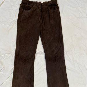 Dark Brown Suede Pants